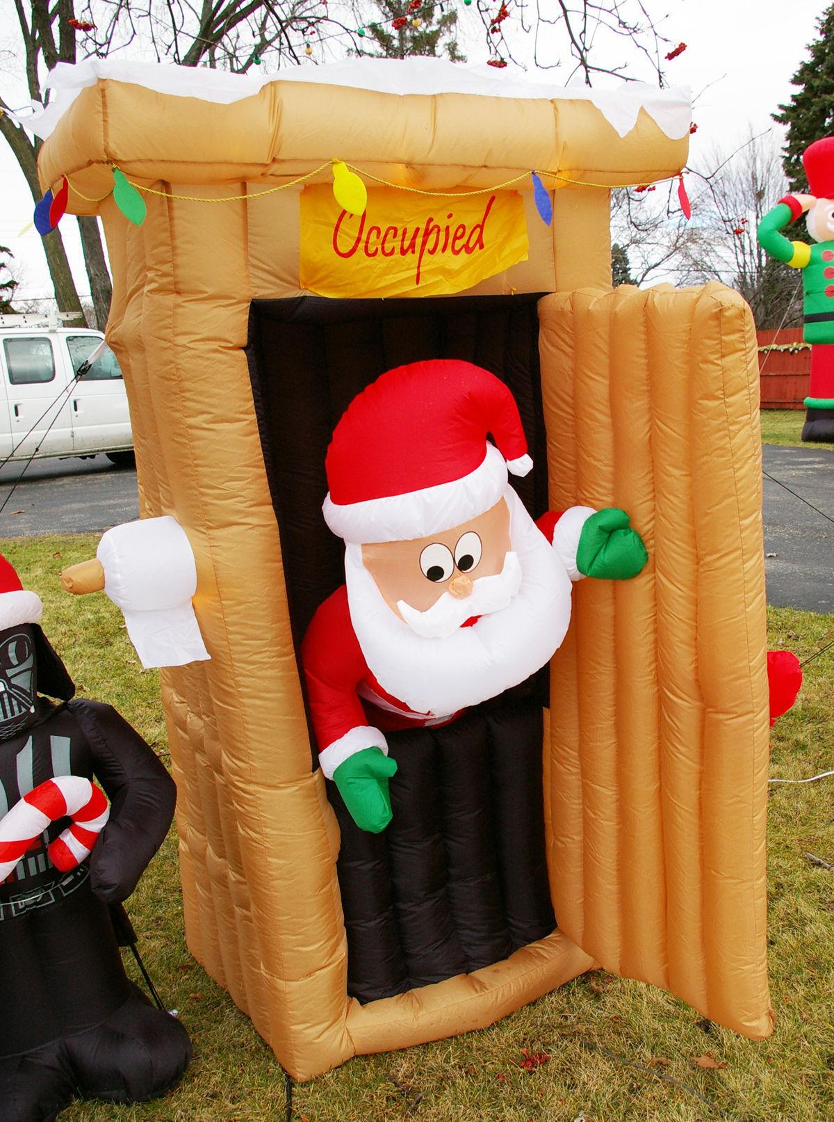 Holiday Blow Up Inflatable Decorations A Christmastime Hit - Regional News