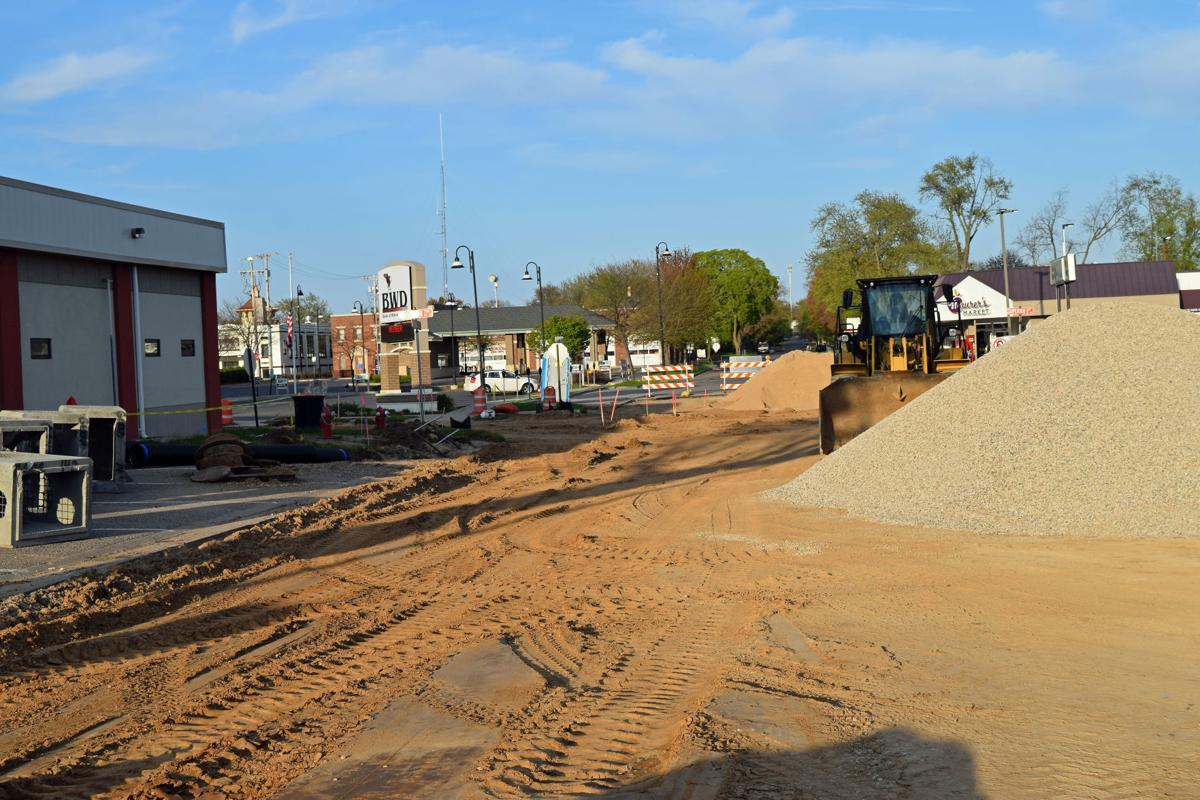 The construction site on Superior Street