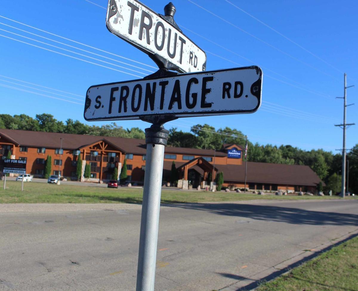 Trout Road sign Dells road project