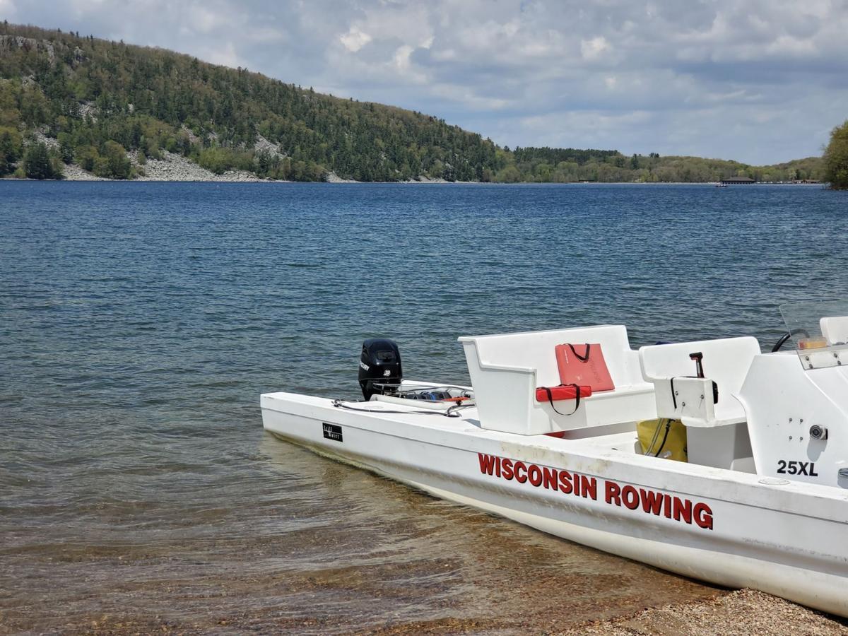 Devil's Lake rowing photo 1