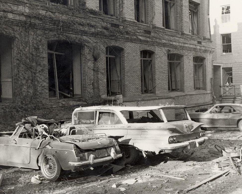 Sterling Hall bomb damage