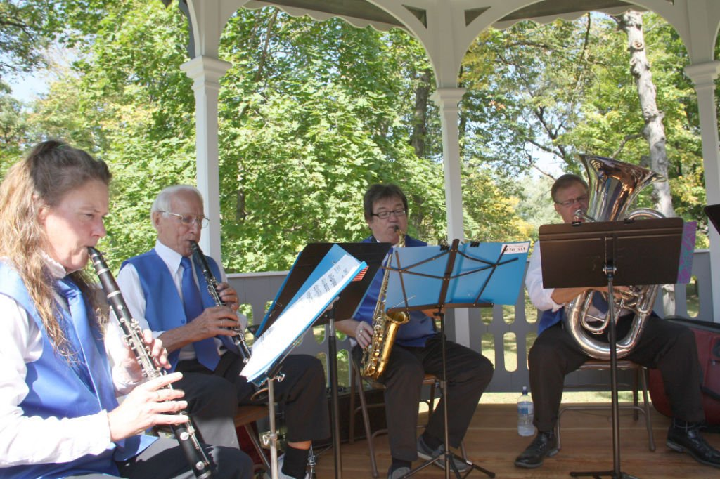 New bandstand holds a band again at Park Hall