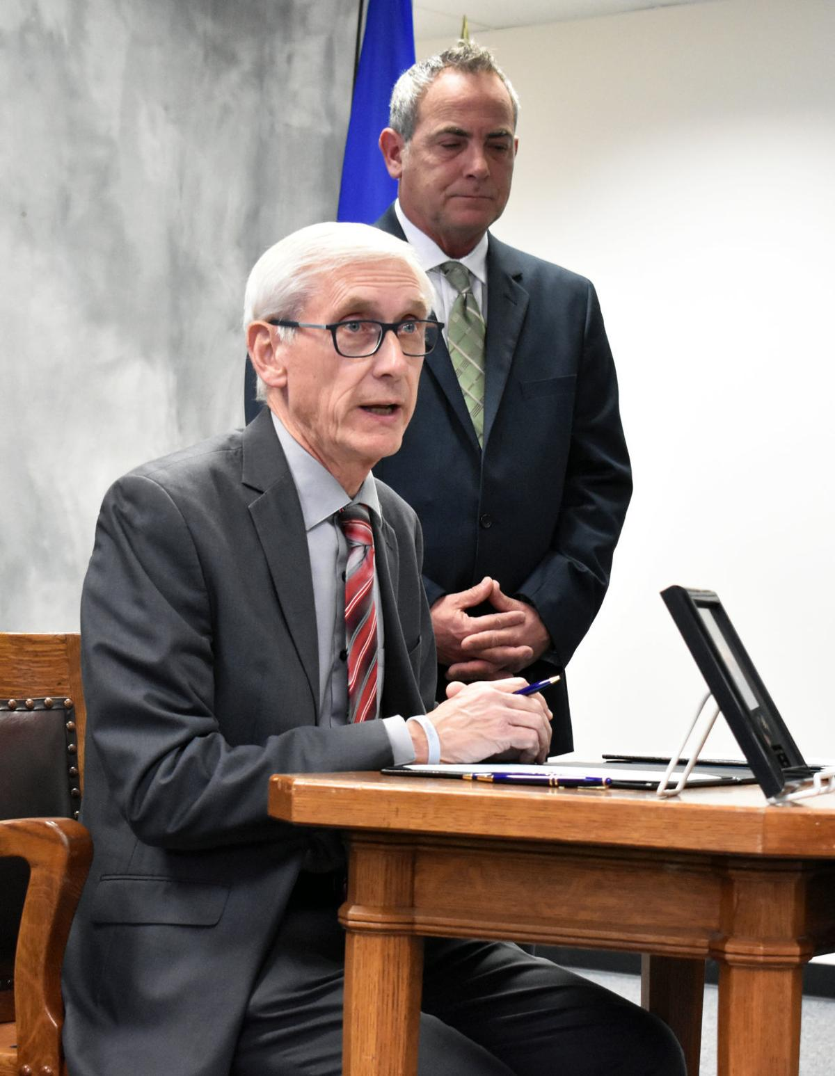Evers at Portage bill signing