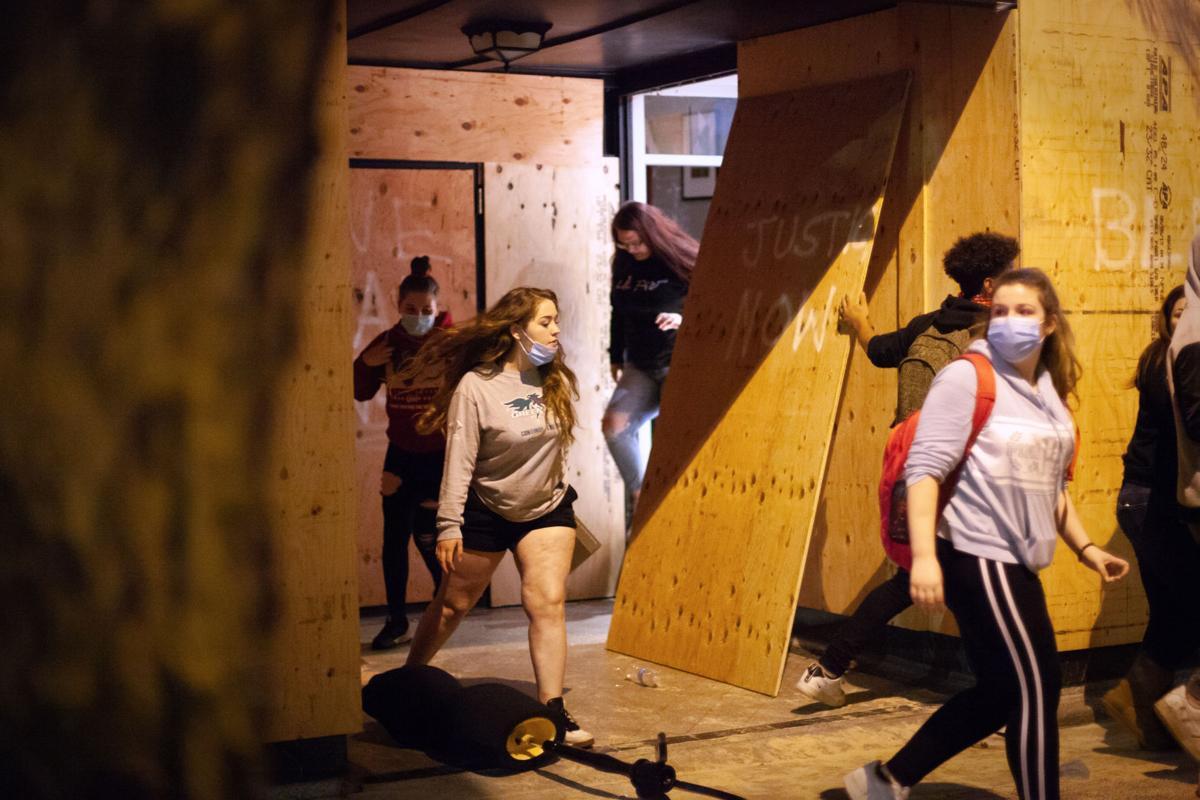 Agitators spark violence