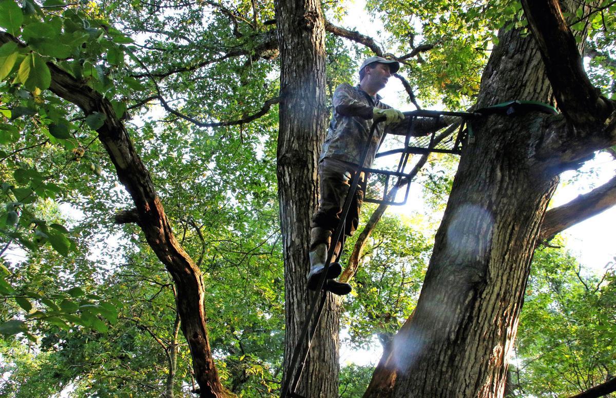 Hunters climbing stand