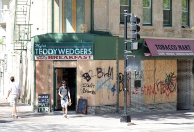 Clean-up of property damage in downtown Madison