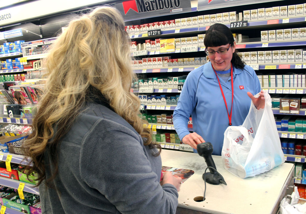 Reedsburg Walgreens cashier Cheryl Anderson-Dee