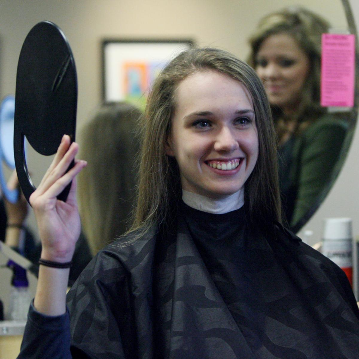 Columbus Gets Hair Cuts To Donate For Cancer Patients Volleyball