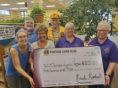 Portage Lions donate $500 to summer lunch program