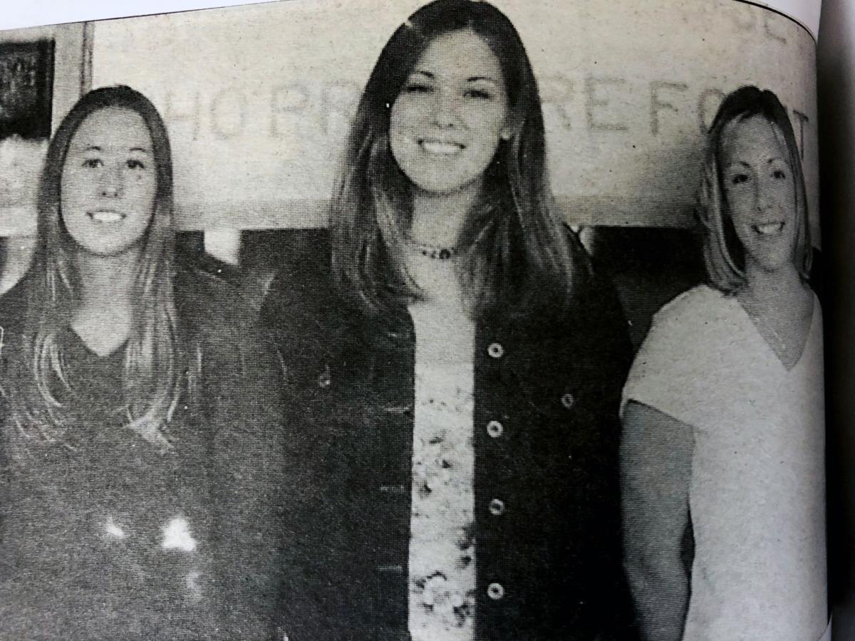 2001 Danielle Hein, Megan Sharrow, and Renee Ripp student ambassadors