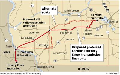 Cardinal-Hickory Creek map
