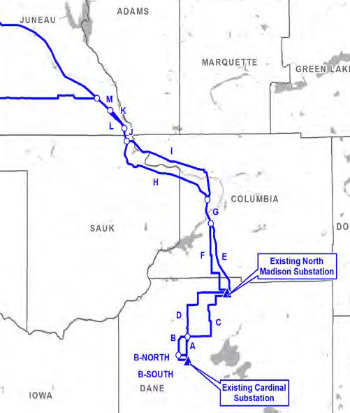 Power line map