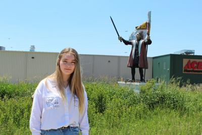 Columbus girl questions why historically inaccurate statue is still standing (copy)