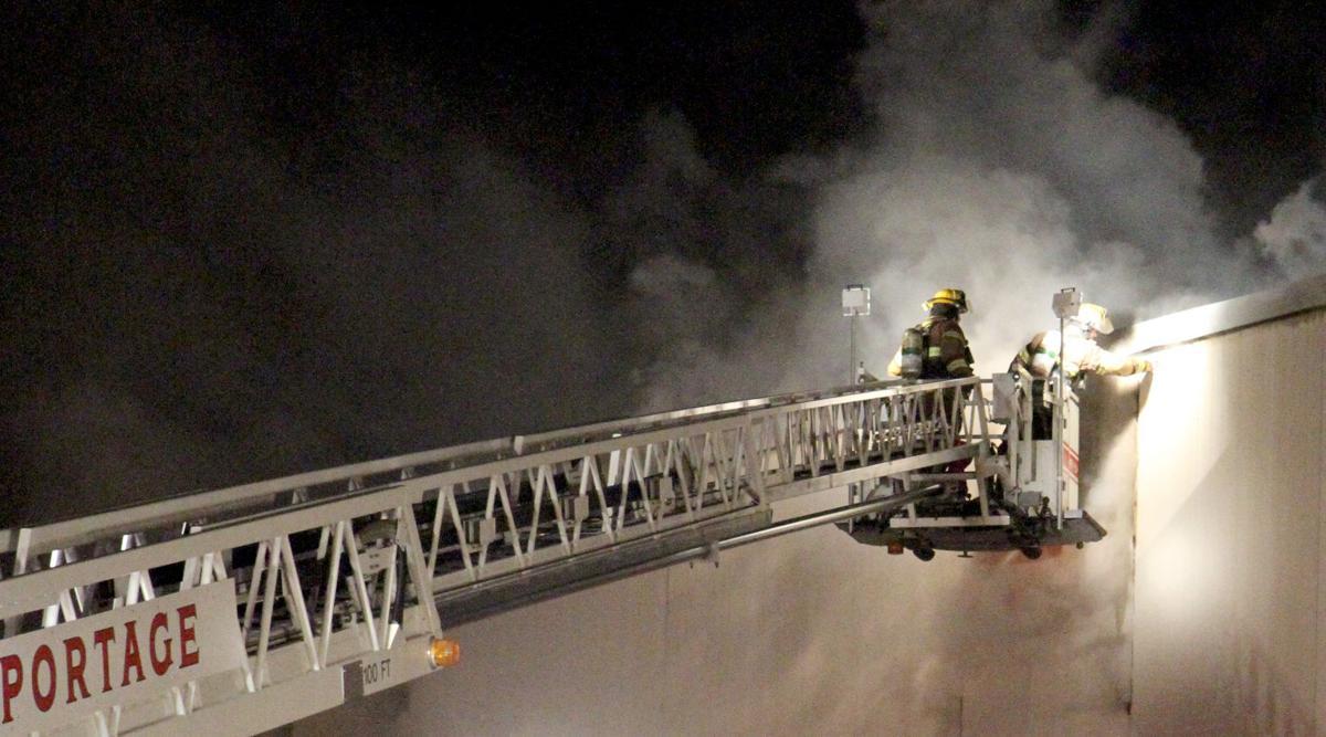 Portage plant fire