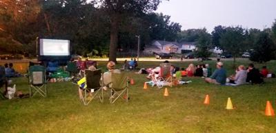Many attend movie in park