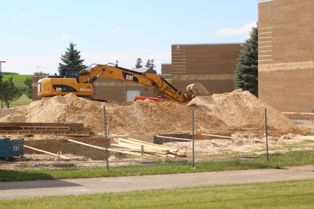 Reedsburg High School fitness center construction underway