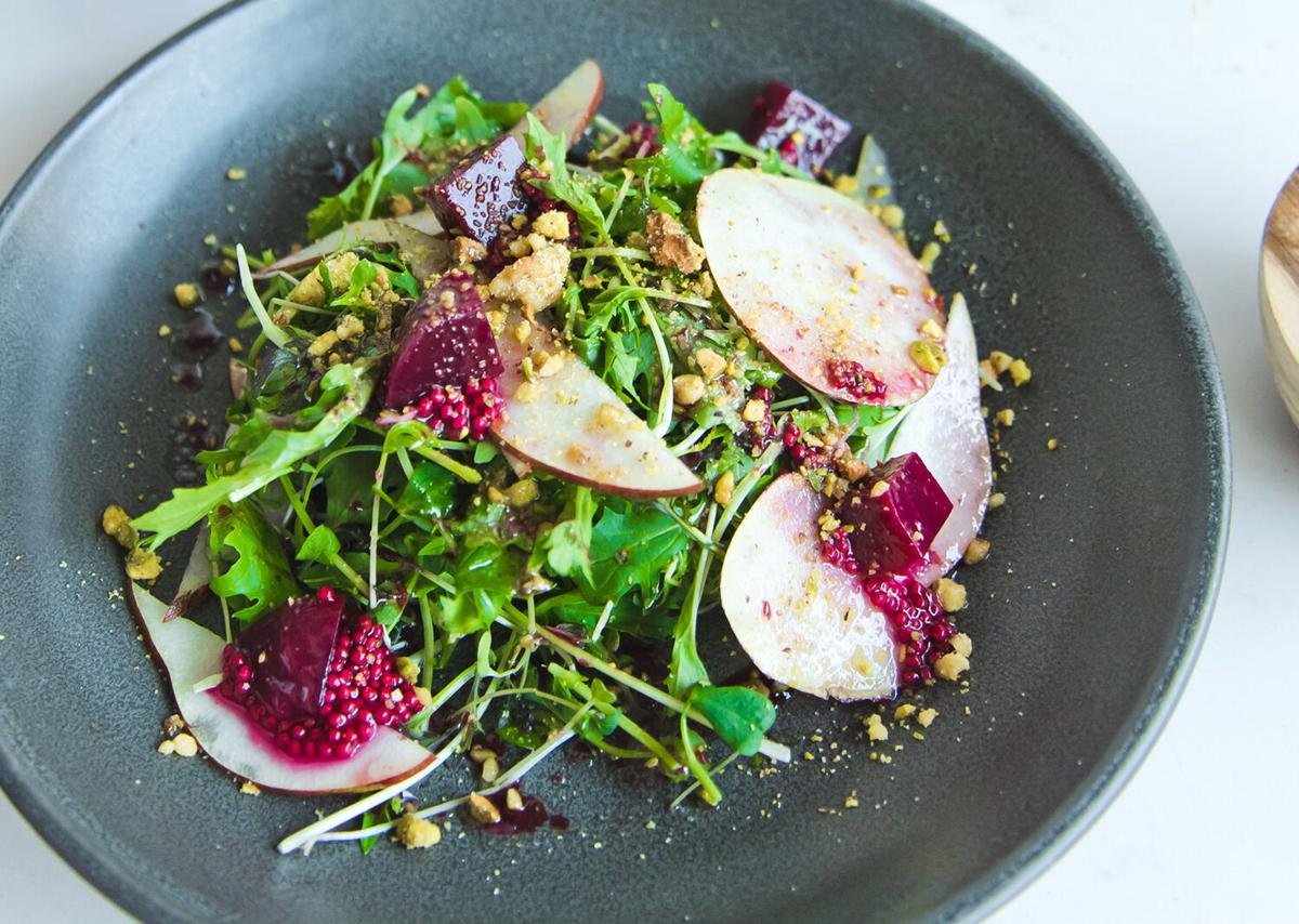 Microgreens beets pears