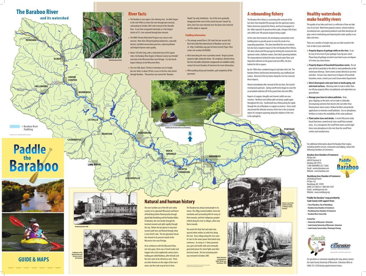 Paddle the Baraboo Map