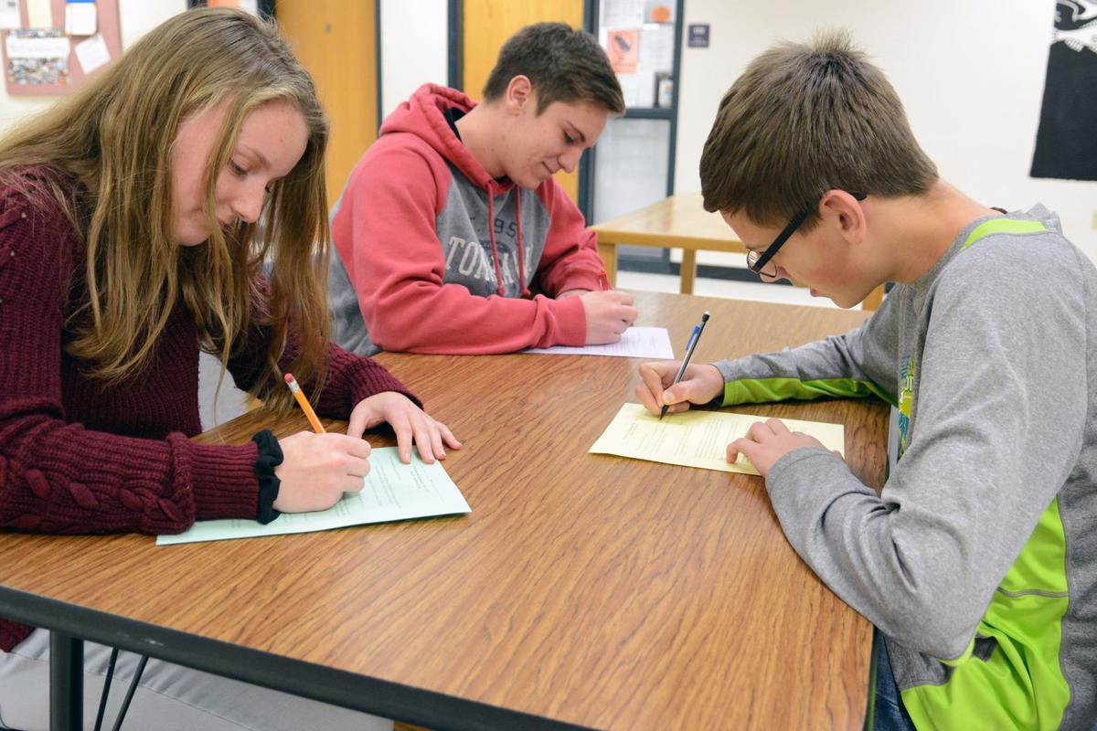 Portage High School math team