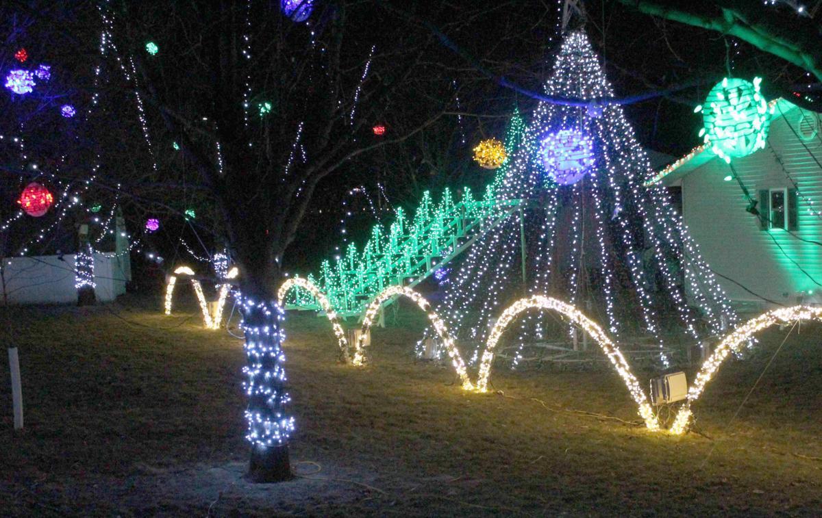 Reedsburg lighted Christmas Check's backyard 2