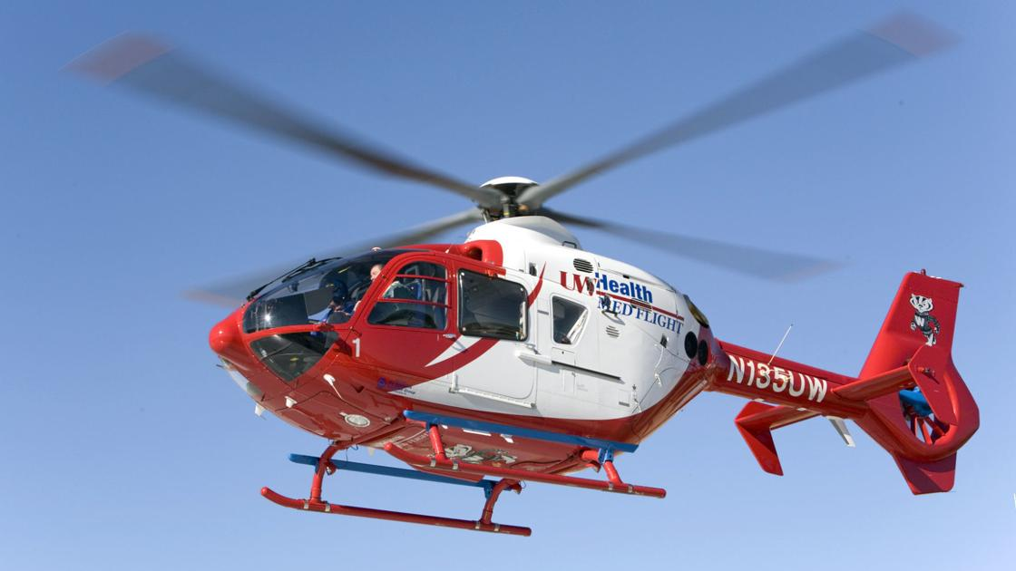 77-year-old woman flown to UW Hospital after crash with semi truck in Fox Lake