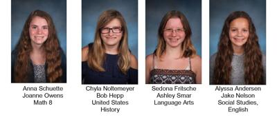 Bartels Middle School's April students of the month