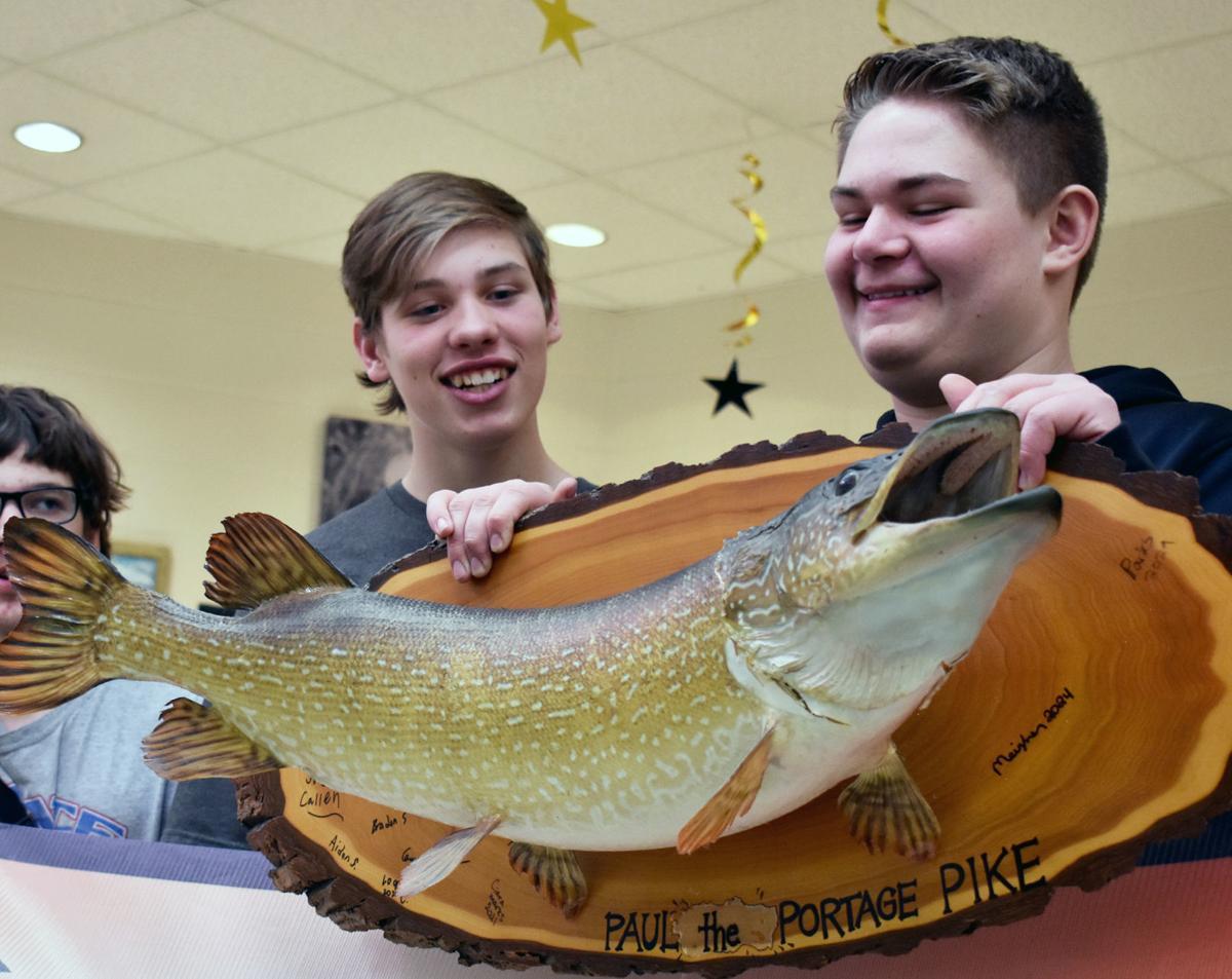 Portage High School ice fishing team