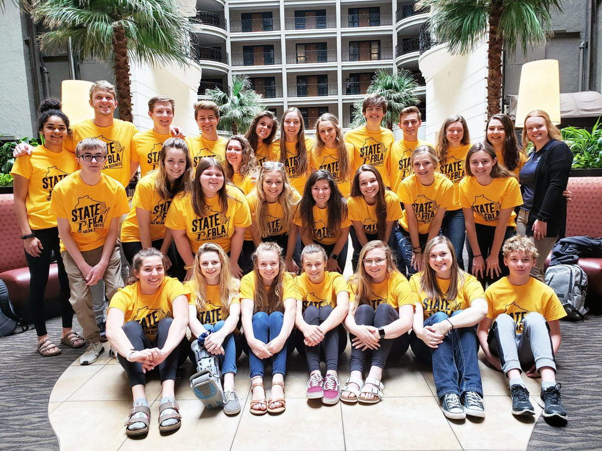 State FBLA competitors from Portage