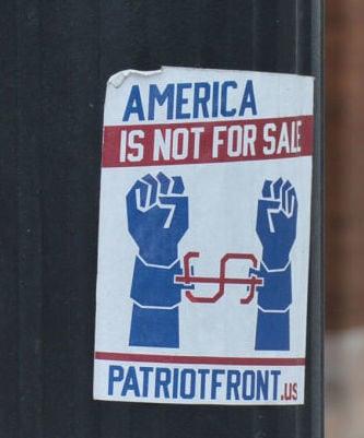 White supremacist sticker 2