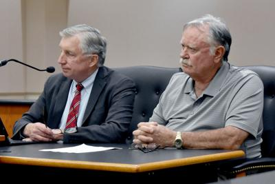 Wenzel and Van Wagner in courtroom