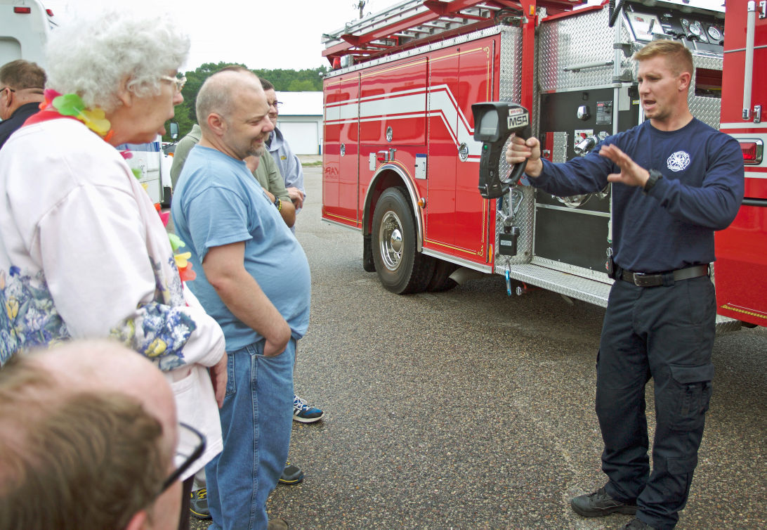 Reedsburg firefighter Brandon Douglas