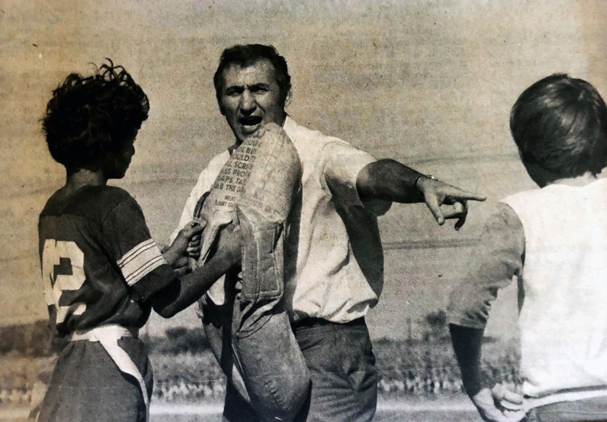 1981 St. Jerome's seventh and eighth grade flag football Coach John Ganga