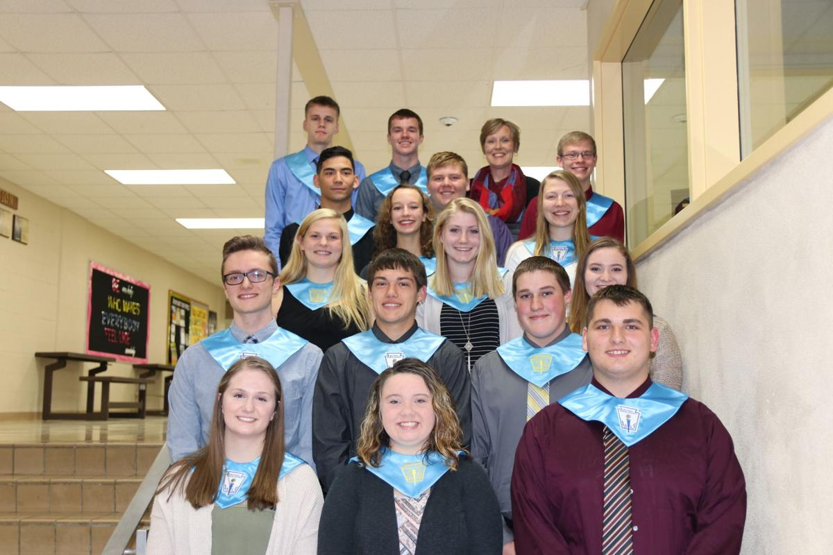 New inductees to Royall National Honor Society