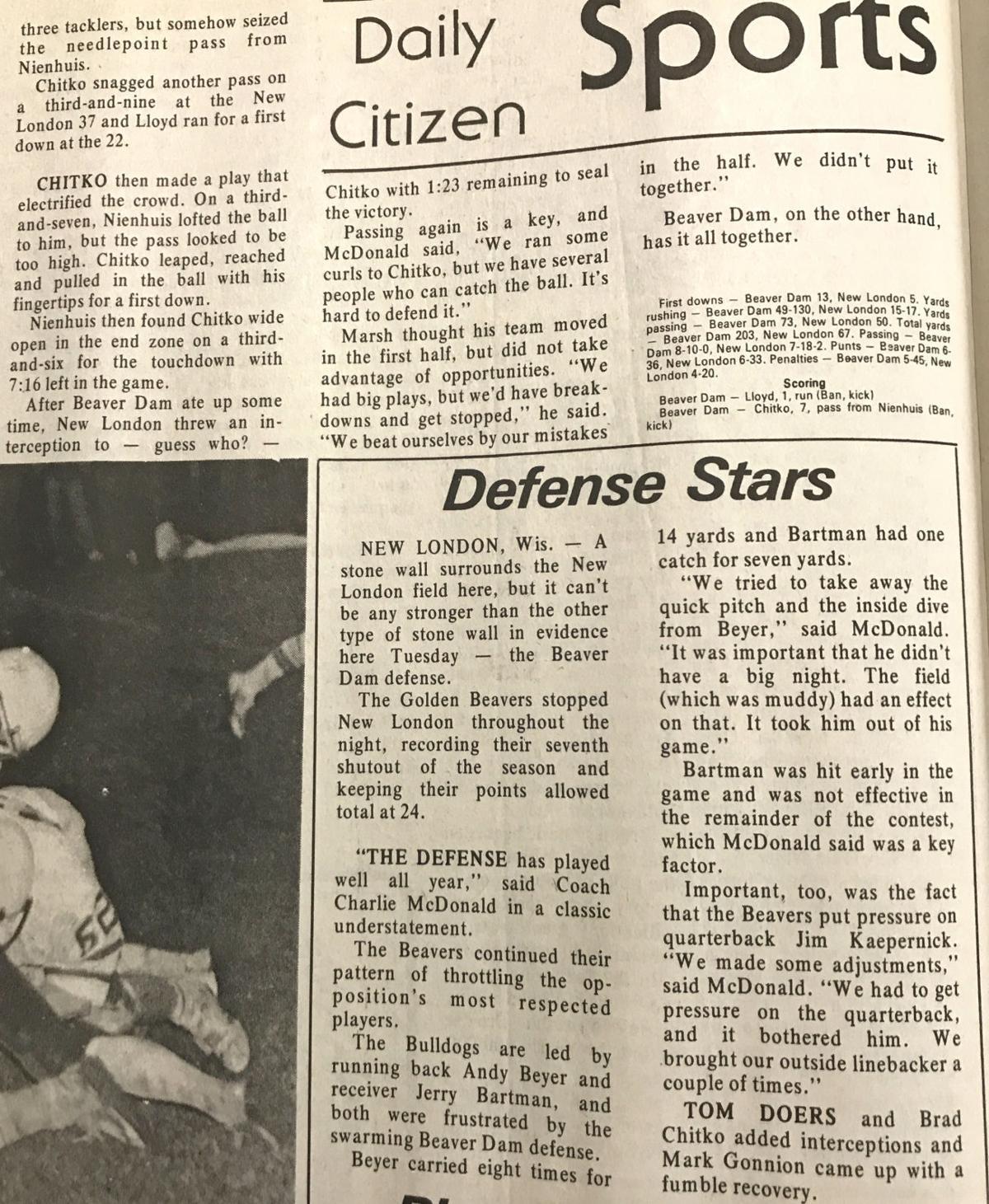 PREP FOOTBALL: BD's 1982 team that made state semis having