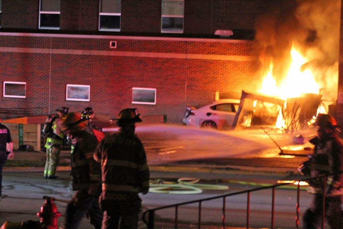Car crashes into Beaver Dam Middle School (copy)