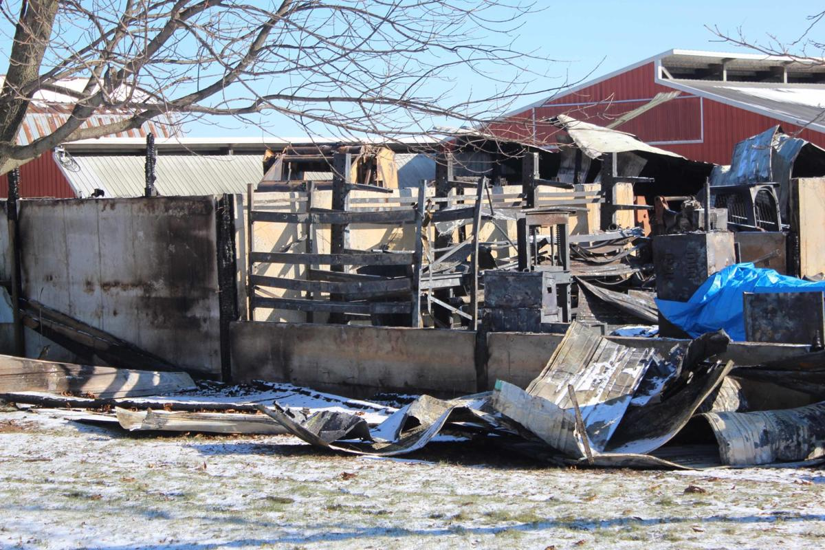 Shed fire picture 1