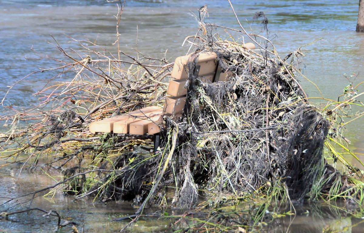 Baraboo Riverwalk bench