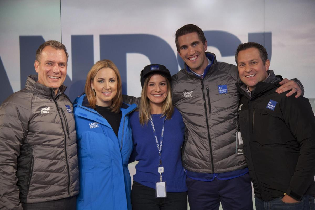 Lands End gear on Weather Channel