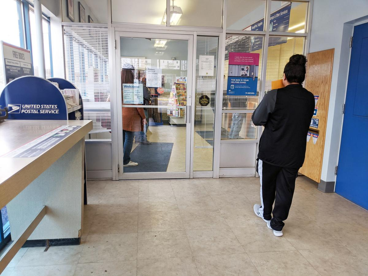Social distancing at post office