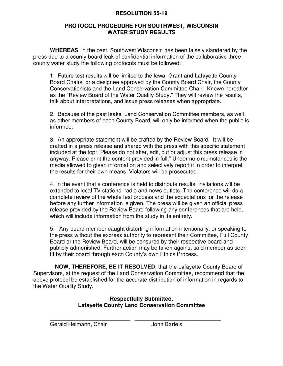 Lafayette County resolution
