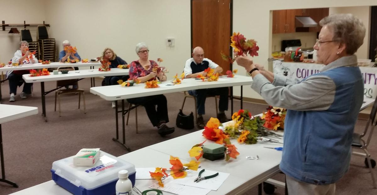 Wyocena Friends of the Library host floral arranging class