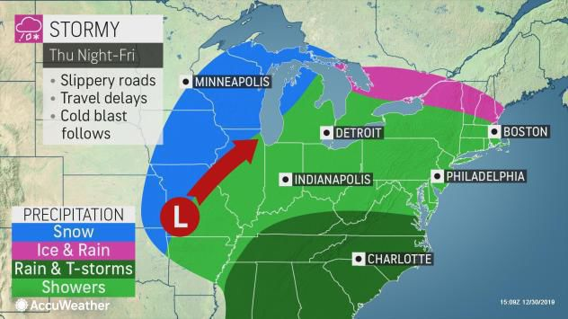 Storm forecast Thursday night-Friday by AccuWeather
