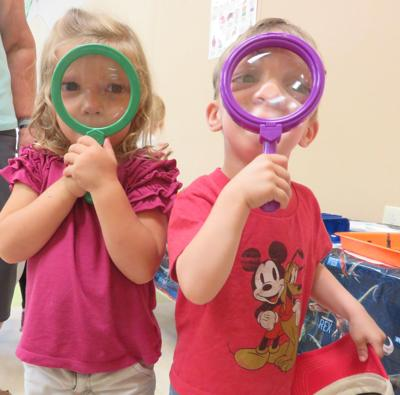 Hands-on (and eyes on) science at library