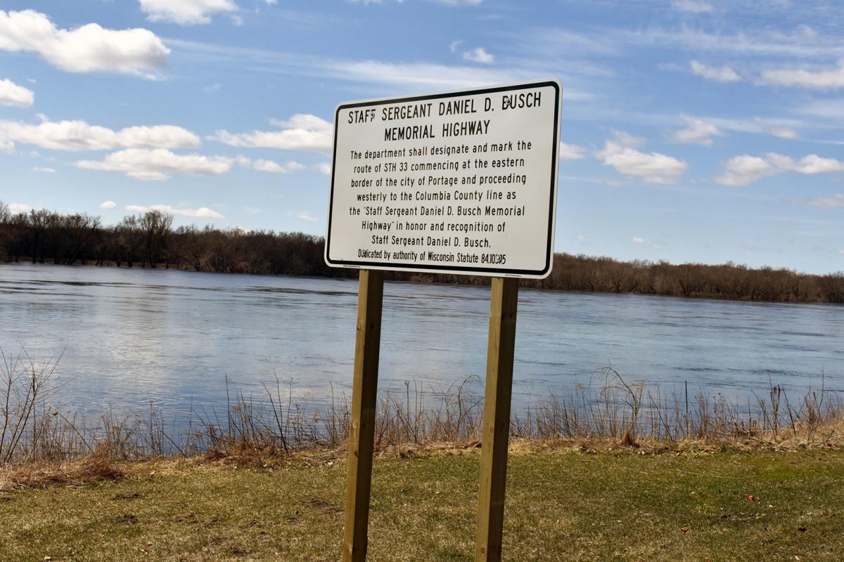 Wisconsin River - Busch sign