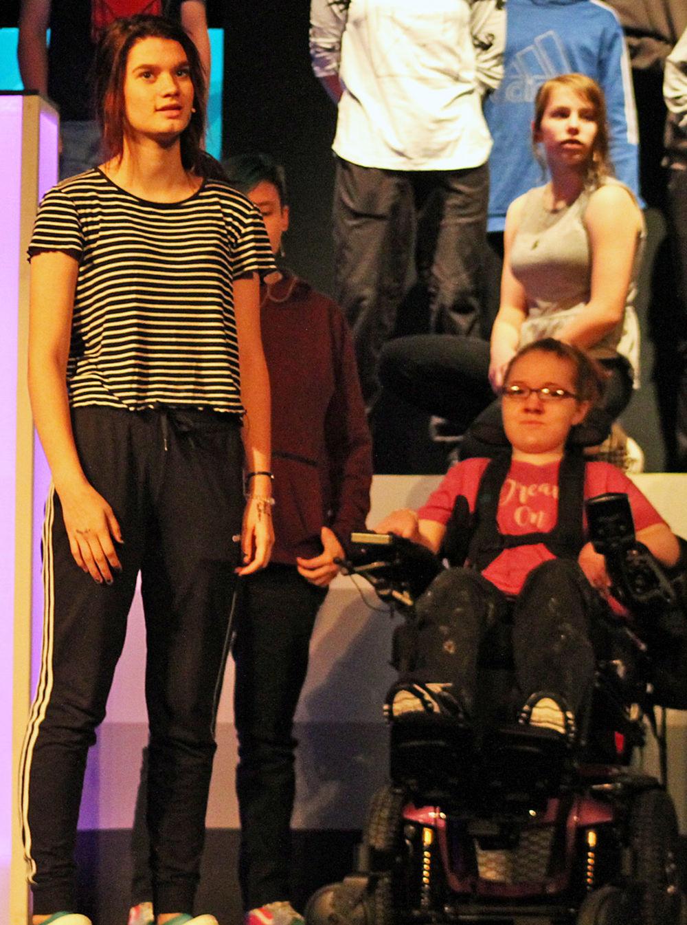 Cast rehearses