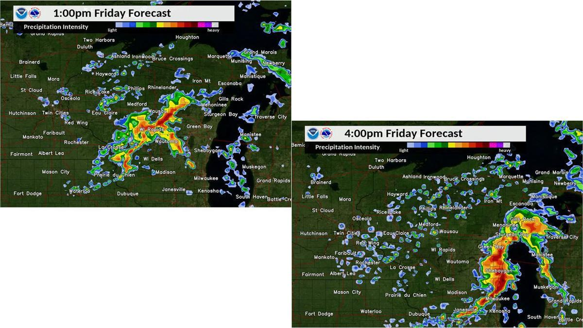 Friday storms outlook by National Weather Service