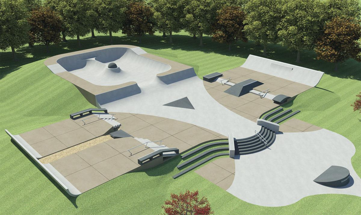 Skaters have big plans for skate park regional news for Indoor skatepark design uk