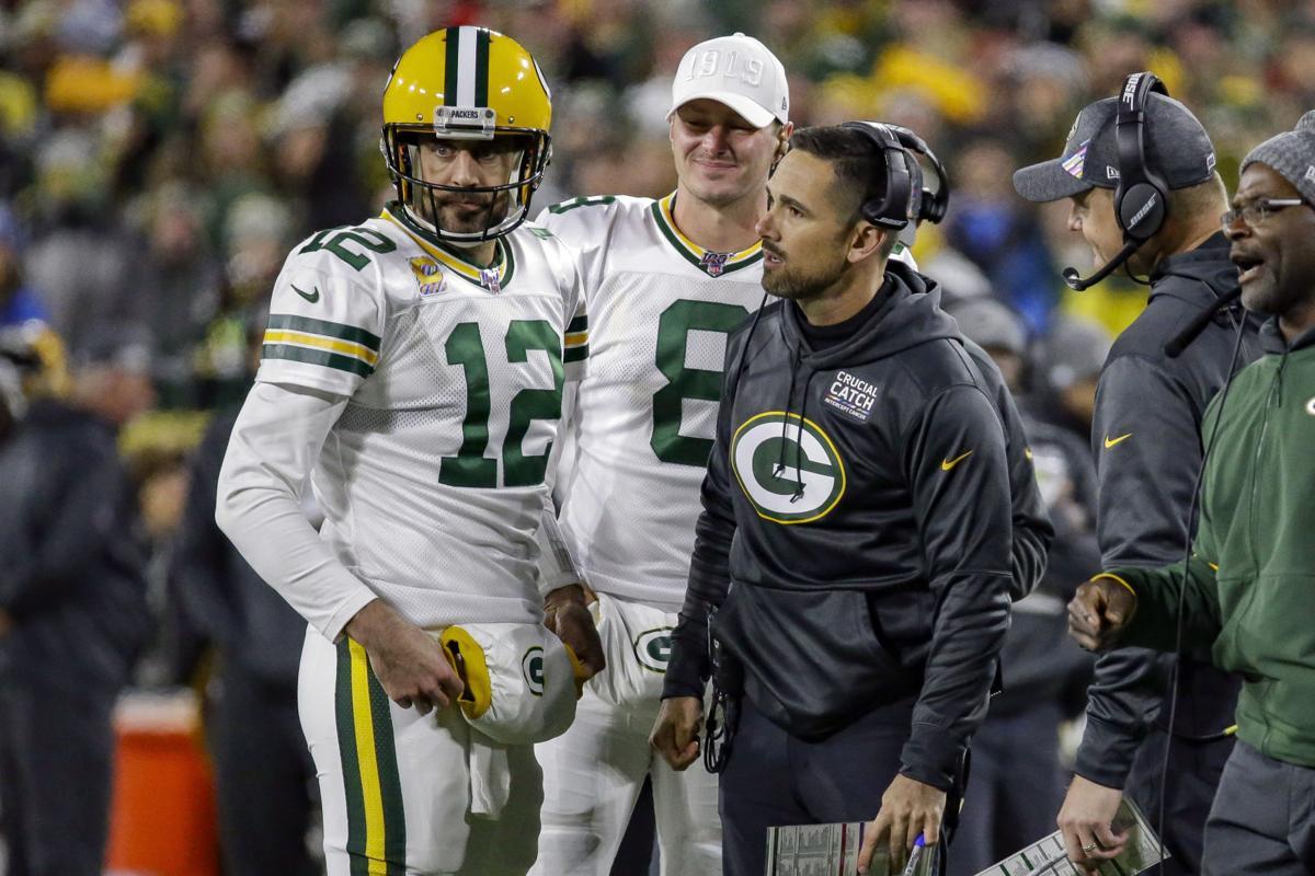 Aaron Rodgers, Matt LaFleur, AP photo