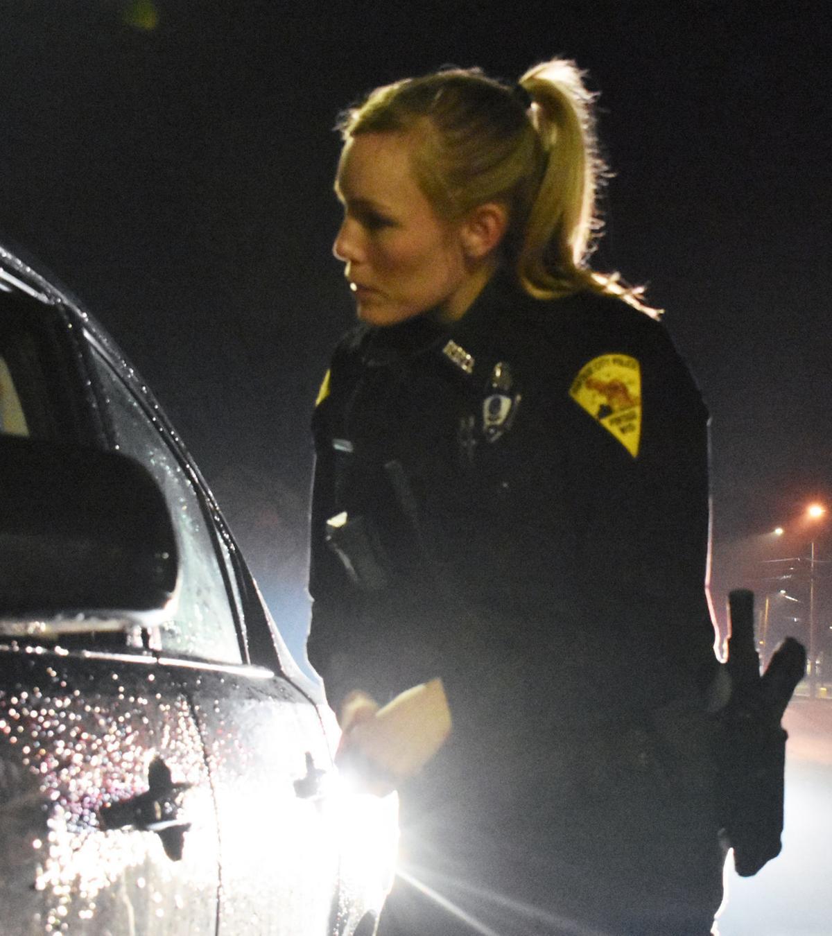 Officer Heather Medina in traffic stop