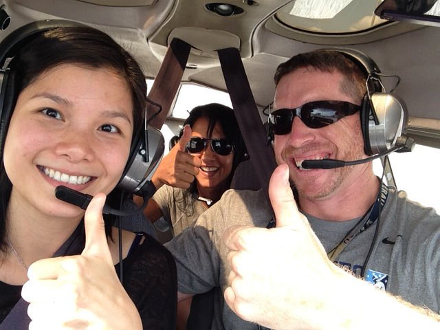 Jeff Sanders flying with friends